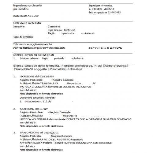 Trascrizione conservatoria registri immobiliari idee per la casa - Trascrizione conservatoria registri immobiliari ...